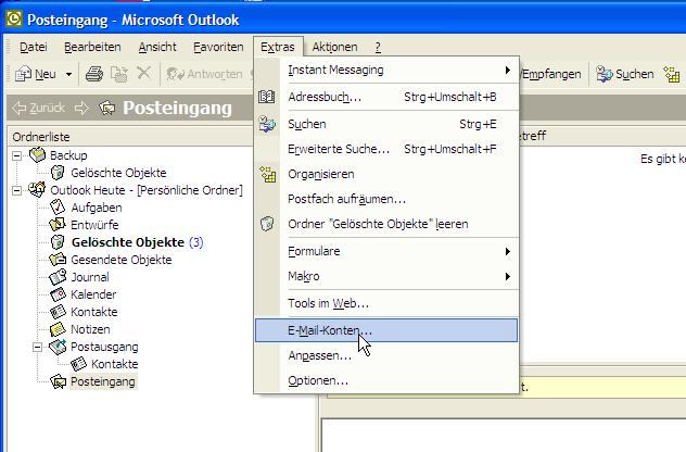 Microsoft Outlook 2003 — Intertech Dokumentation 1 Dokumentation